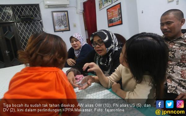 Detik - Detik Pelarian Tiga Anak dari Penyekapan di Makassar - JPNN.com