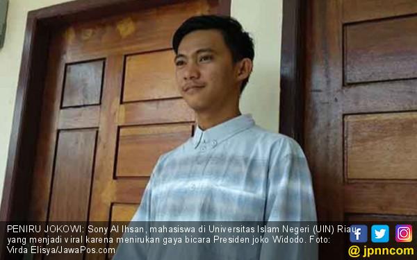 Kisah Sony Al Ihsan, Mahasiswa Peniru Gaya Bicara Jokowi - JPNN.COM