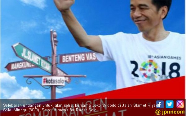 Jalan Sehat Bareng Jokowi Batal, Gantinya Doa untuk Sulteng - JPNN.COM