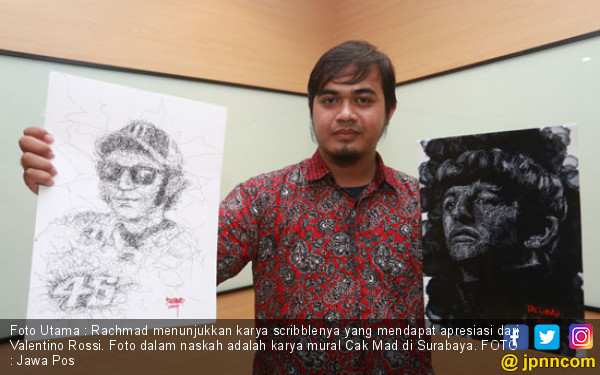 Rachmad Priyandoko Temukan Keasyikan Lewat Mural - JPNN.COM