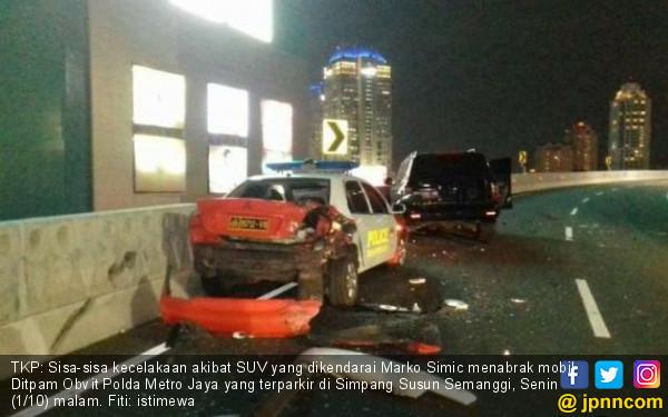 Brakkk.... Marko Simic Tabrak Mobil Polisi di Semanggi - JPNN.com