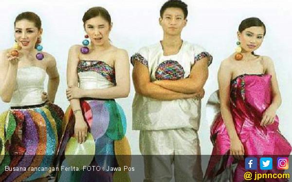 Inspirasi Lampu Disko di Empat Busana Karya Ferlita - JPNN.COM