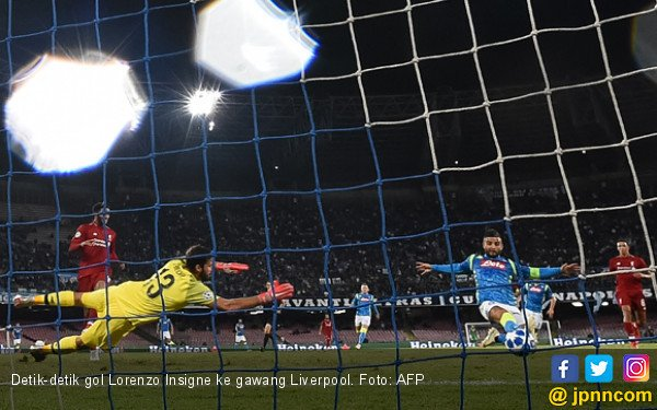 Lihat! Gol Insigne di Menit ke-90 Ini Menyakiti Liverpool - JPNN.com