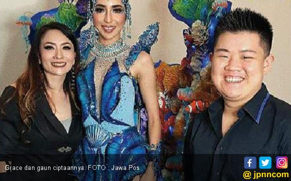 Grace Liem Desain Gaun untuk Ajang Miss Grand International - JPNN.COM