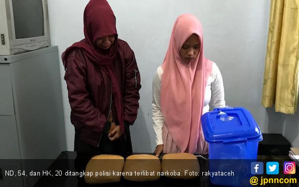 Kirim Ganja ke Jakarta, IRT dan Mahasiswi Diciduk Polisi - JPNN.COM