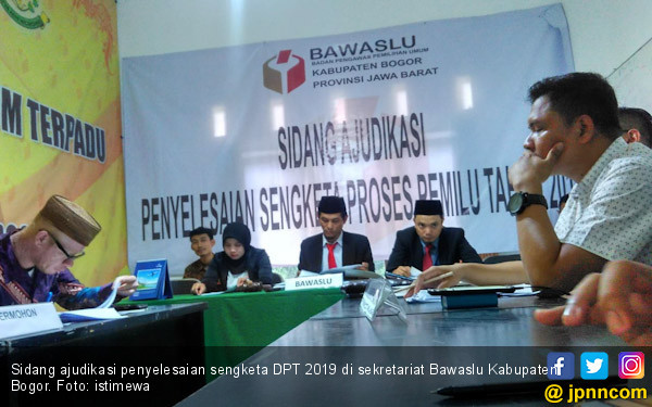 KPU Kabupaten Bogor Kalah Sengketa DPT 2019 - JPNN.COM