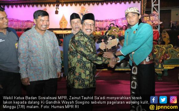 MPR Sosialisasi Pancasila Lewat Pagelaran Wayang Kulit - JPNN.COM