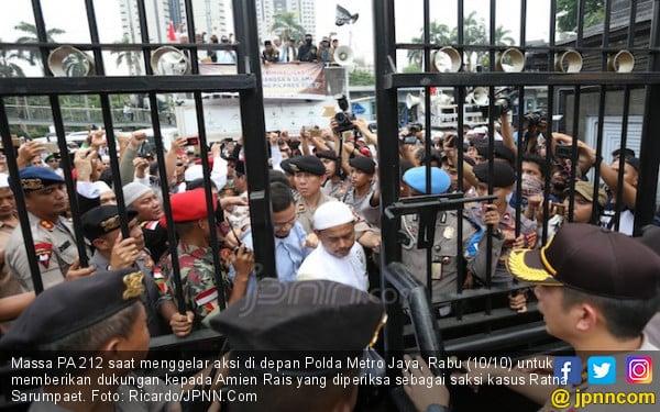 Wahai Massa PA 212, Mari Antar Pak Amien dari Polda ke KPK - JPNN.COM