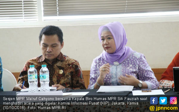 Ma'ruf Cahyono: KIP Apresiasi Kualitas Layanan Informasi MPR - JPNN.COM