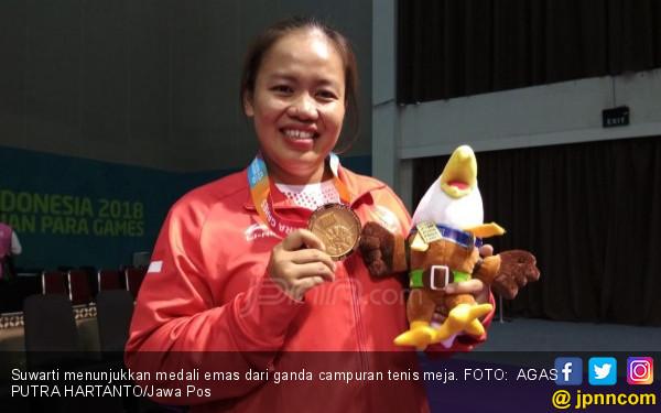 Hamil 4,5 Bulan, Suwarti Rebut Emas Asian Para Games 2018 - JPNN.COM
