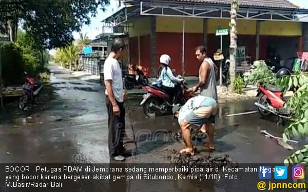 Gempa di Situbondo, Pipa PDAM di Bali Bergeser - JPNN.COM