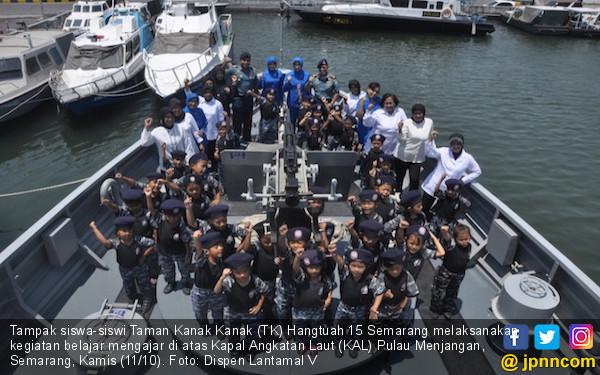 TK Hangtuah 15 Semarang Belajar di Atas KAL Pulau Menjangan - JPNN.COM
