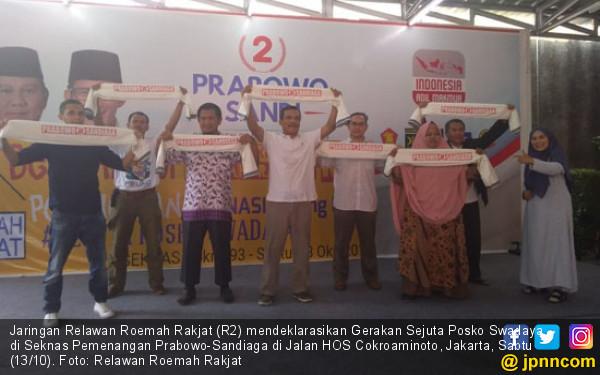 Relawan R2 Siap Bangun 1 Juta Posko Prabowo - Sandiaga - JPNN.COM