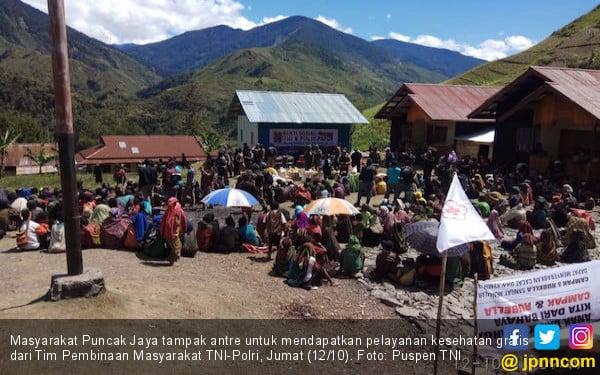 Masyarakat Puncak Jaya Mendapat Pelayanan Kesehatan Gratis - JPNN.COM