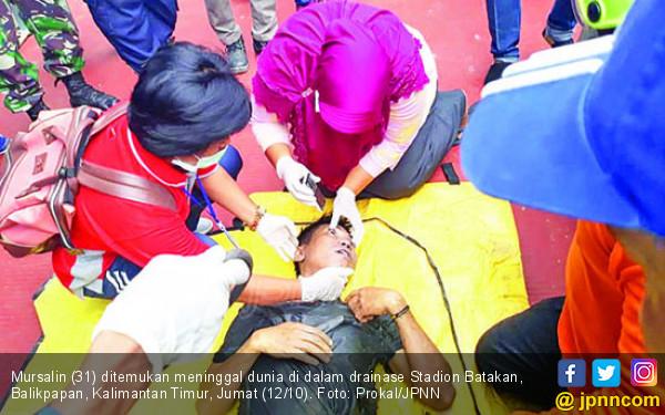 Mursalin Meninggal di Dalam Drainase Stadion Batakan - JPNN.COM