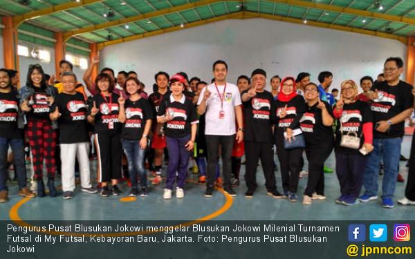 Gaet Milenial, Relawan Blusukan Jokowi Gelar Turnamen Futsal - JPNN.COM