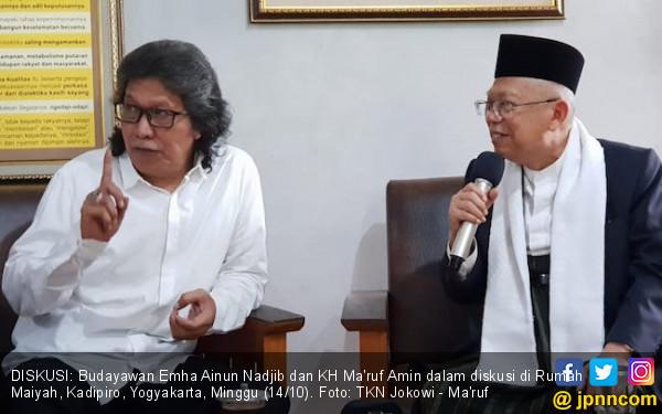 Butuh Masukan demi Indonesia, Kiai Ma'ruf Temui Cak Nun - JPNN.com