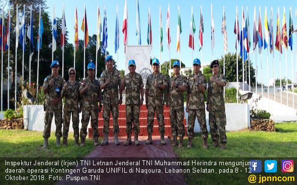 Irjen TNI Mengunjungi Prajurit Kontingen Garuda di Lebanon - JPNN.COM