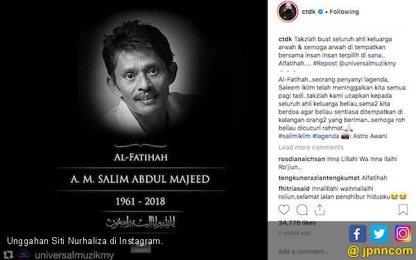 Saleem Iklim Meninggal, Siti Nurhaliza Ajak Fan Berdoa - JPNN.COM