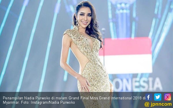 Nadia Purwoko Juara Tiga Miss Grand International 2018 - JPNN.com