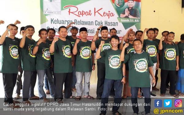 Maju Caleg DPRD Jatim, Hasanuddin Didukung Relawan Santri - JPNN.COM
