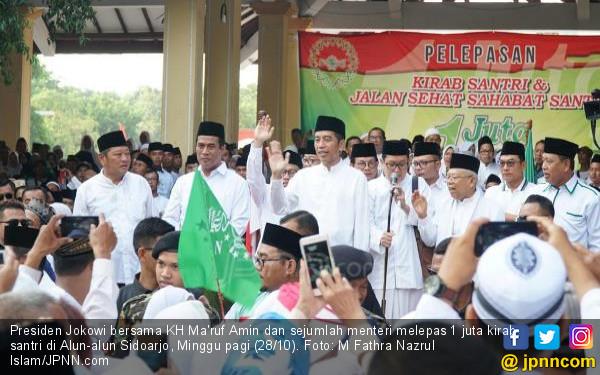 Jokowi Lepas 1 Juta Kirab Santri di Sidoarjo - JPNN.com