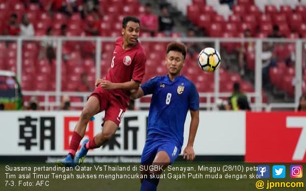 Hancurkan Thailand 7-3, Qatar Tembus Piala Dunia U-20 - JPNN.com