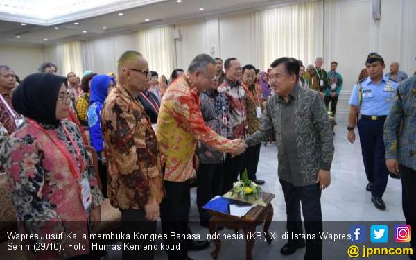 Wapres JK: Kosakata Bahasa Indonesia Harus Kekinian - JPNN.COM