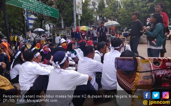 Demo Buruh 2 Oktober, Honorer K2 Usung 3 Tuntutan - JPNN.com