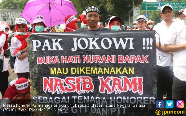 Honorer K2 Setop Demo Lagi, Mending ke TPS, Coblos Prabowo