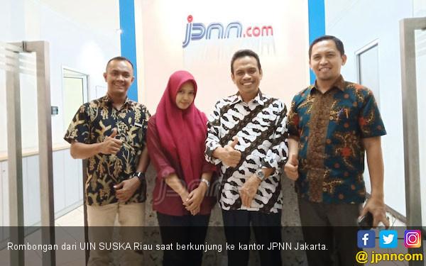 Jalin Silaturahmi, Dekan UIN SUSKA Riau Kunjungi Kantor JPNN - JPNN.COM