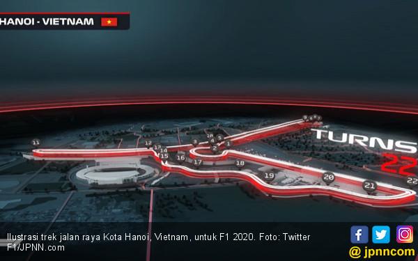 Jalan Raya Hanoi Resmi Jadi Trek F1 2020 - JPNN.COM
