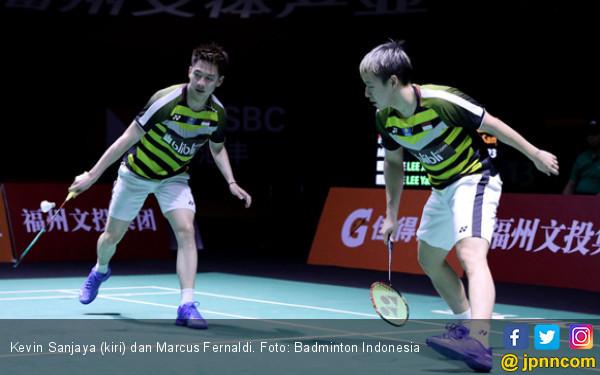 Penuh Aksi, Marcus / Kevin ke Semifinal Fuzhou China Open - JPNN.COM