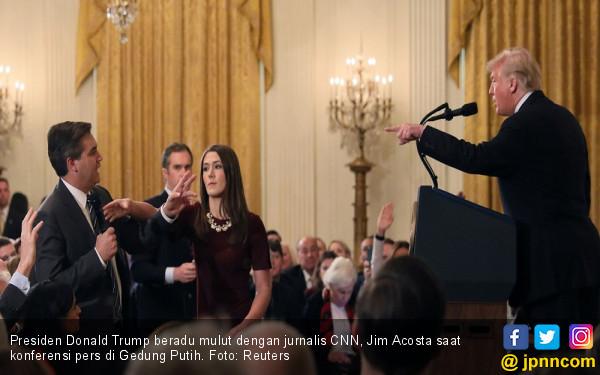 Seru! Trump Adu Mulut dengan Wartawan di Gedung Putih - JPNN.COM