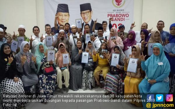 Honorer K2 Jatim Resmi Mendukung Prabowo - Sandi - JPNN.COM
