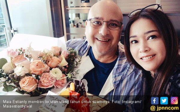 Duh Mesranya, Maia Estianty Beri Kejutan Ultah untuk Suami - JPNN.COM
