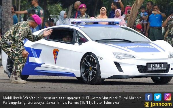 Mobil Listrik V8 Vadi Jadi Kendaraan 'Tempur' TNI AL - JPNN.com