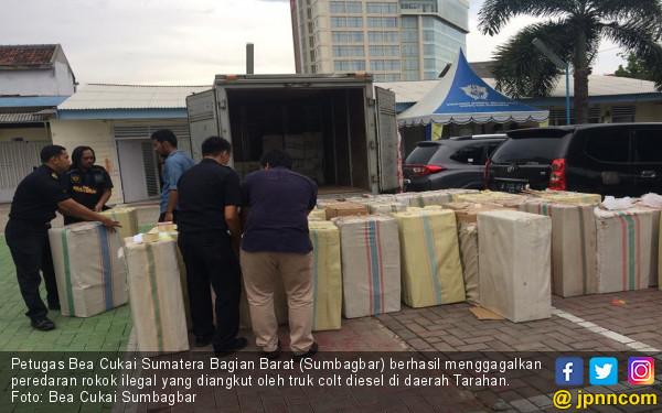 Bea Cukai Sumbagbar Sita 800 Ribu Batang Rokok Ilegal - JPNN.COM