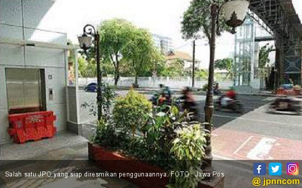Revitalisasi JPO di Jalan Sudirman Molor - JPNN.COM