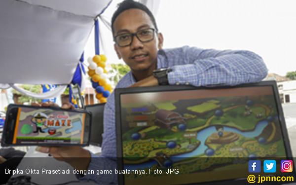 Keren! Inilah Bripka Okta Prasetiadi, Pembuat Game - JPNN.COM