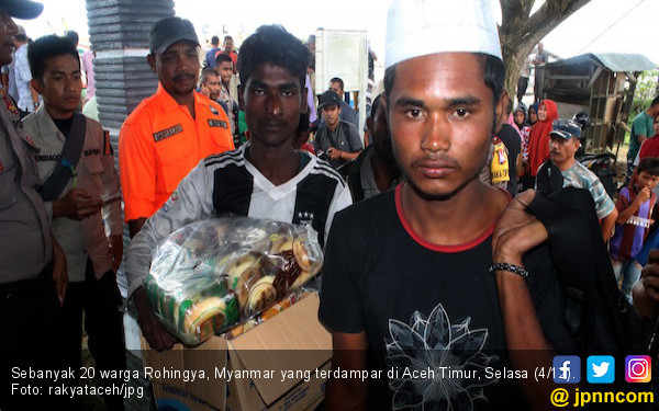 Perahu Mengangkut 20 Warga Rohingnya Terdampar di Aceh Timur - JPNN.COM