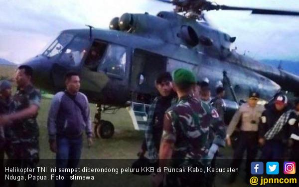 KKB Berondong Helikopter TNI, Dibalas dari Atas - JPNN.COM