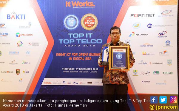Kementan Raih Tiga Penghargaan di Ajang Top IT & Telco 2018 - JPNN.COM