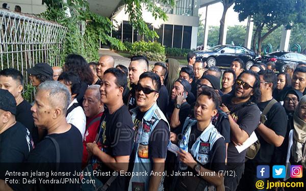 Jemaah Judas Priest Mulai Padati Ancol - JPNN.COM