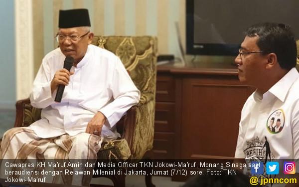 Kiai Ma'ruf Amin Ajak Santri Lawan Isu Jokowi PKI - JPNN.COM