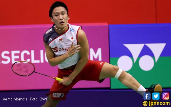 Fuzhou China Open 2019: Momota Harus Jatuh Bangun Menaklukkan CTC - JPNN.com