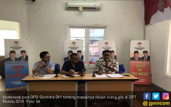 Gerindra DKI Tuntut KPU DKI Coret Orang Gila dari DPT - JPNN.COM