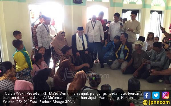 Pesan Kiai Ma'ruf untuk Pengungsi Tsunami Banten - JPNN.COM