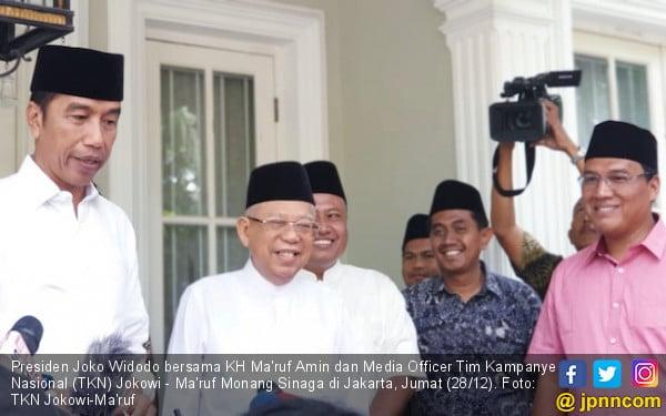 Kiai Ma'ruf Sudah Didatangi Tim Materi Debat Pilpres - JPNN.COM