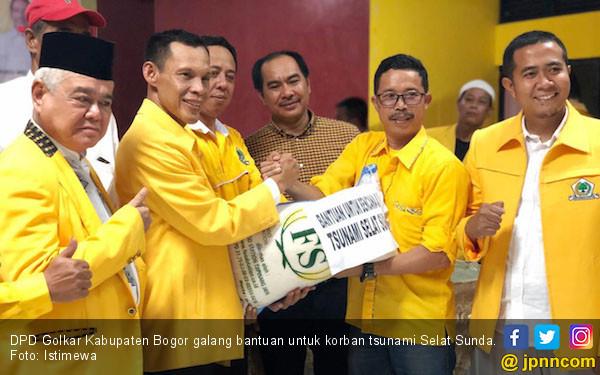 Golkar Kabupaten Bogor Galang Bantuan untuk Korban Tsunami - JPNN.com